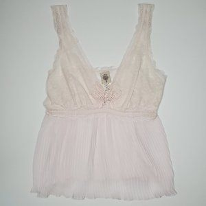 Vintage In Bloom Lingerie Butterfly Pleated Cami